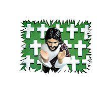 Fun Jesus - Green Photographic Print