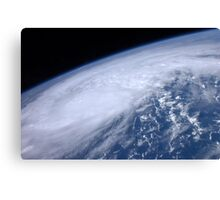 View from space of Hurricane Irene as it passes over the Caribbean. Canvas Print