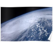 View from space of Hurricane Irene as it passes over the Caribbean. Poster