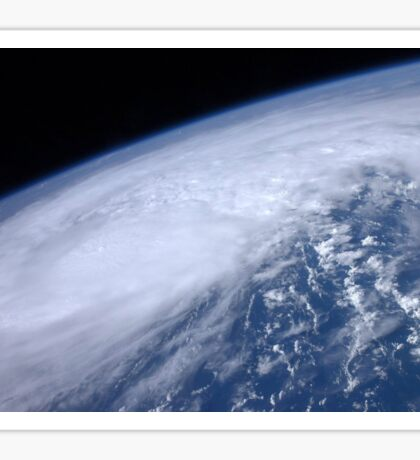 View from space of Hurricane Irene as it passes over the Caribbean. Sticker