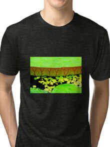 At the lily pond Tri-blend T-Shirt