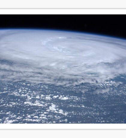 View from space of Hurricane Irene off the east coast of the United States. Sticker