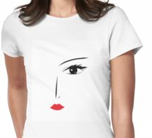 face women Womens Fitted T-Shirt