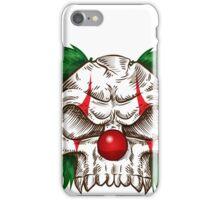 skull clown sketch  iPhone Case/Skin