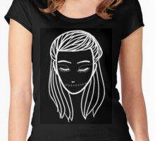 sleep girl Women's Fitted Scoop T-Shirt