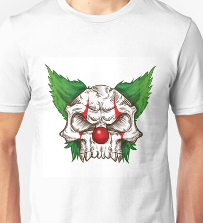 skull clown sketch  Unisex T-Shirt