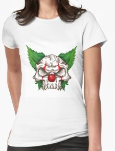 skull clown sketch  Womens Fitted T-Shirt