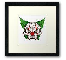 skull clown sketch  Framed Print