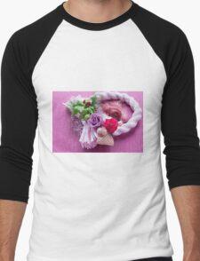 Japan style of roses Men's Baseball ¾ T-Shirt