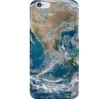 Full Earth showing North America and Mexico. iPhone Case/Skin