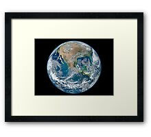 Full Earth showing North America and Mexico. Framed Print