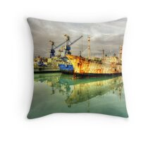 Paola Dock Reflections  Throw Pillow