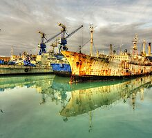 Paola Dock Reflections  by Rob Hawkins