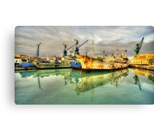 Paola Dock Reflections  Canvas Print