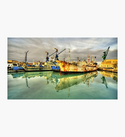 Paola Dock Reflections  Photographic Print