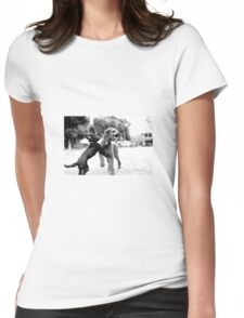Come play with us Womens Fitted T-Shirt