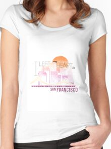 I left my heart in San Francisco Women's Fitted Scoop T-Shirt