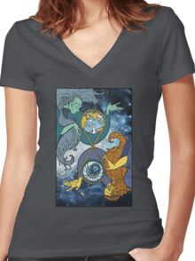 Mother Earth and Father Time Women's Fitted V-Neck T-Shirt