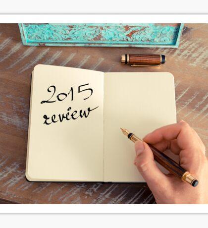 Motivational concept with handwritten text 2015 REVIEW Sticker