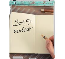 Motivational concept with handwritten text 2015 REVIEW iPad Case/Skin