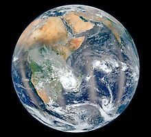 Full Earth showing the eastern hemisphere. by StocktrekImages