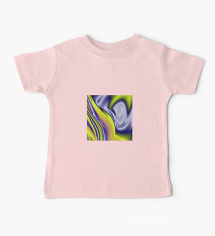 Fluid Fantasy Colourful Background Pattern Baby Tee