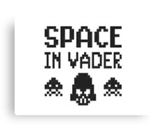 Space in-vader Canvas Print