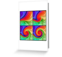 The Fourth Dimension Colourful Background Pattern Greeting Card