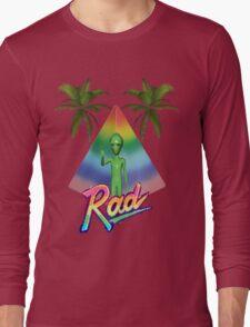 Vaporwave Alien Long Sleeve T-Shirt