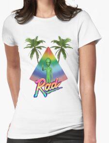 Vaporwave Alien Womens Fitted T-Shirt