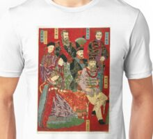 Chikanobu Hashimoto - Portrait of World Soveriegns 1 - 1879 - Woodcut Unisex T-Shirt