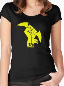 BATMAN POWER - BLACK POWER - BAT POWER Women's Fitted Scoop T-Shirt