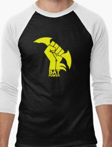 BATMAN POWER - BLACK POWER - BAT POWER Men's Baseball ¾ T-Shirt