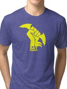 BATMAN POWER - BLACK POWER - BAT POWER Tri-blend T-Shirt