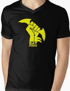 BATMAN POWER - BLACK POWER - BAT POWER Mens V-Neck T-Shirt