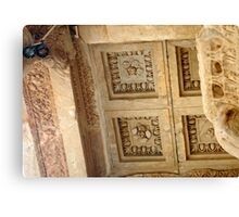 Rosettes and Garlands, Celsus Library Ceiling Canvas Print