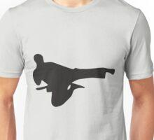 Karate Kick Silhouette Unisex T-Shirt