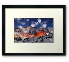 mountain hearth Framed Print