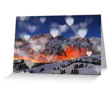 mountain hearth Greeting Card