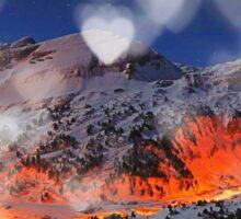 mountain hearth Sticker