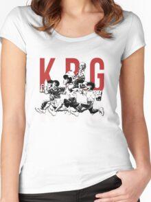 K.B.G Team - Hajime No Ippo Women's Fitted Scoop T-Shirt