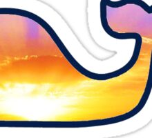 Sunset Vineyard Vines Whale Sticker