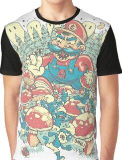 Mario Bros vs. Smurfs Graphic T-Shirt