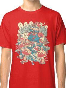 Mario Bros vs. Smurfs Classic T-Shirt