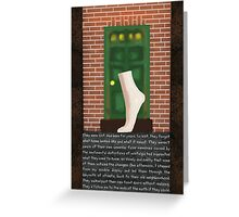 The Mannequin - Left Foot Greeting Card
