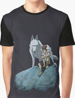 Princess Mononoke at night Graphic T-Shirt