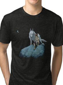 Princess Mononoke at night Tri-blend T-Shirt