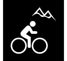 Mountain Biking Icon Photographic Print