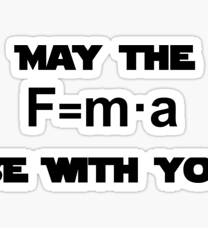 Star Wars Physics Force  Sticker