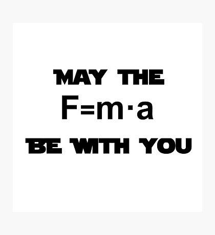 Star Wars Physics Force  Photographic Print